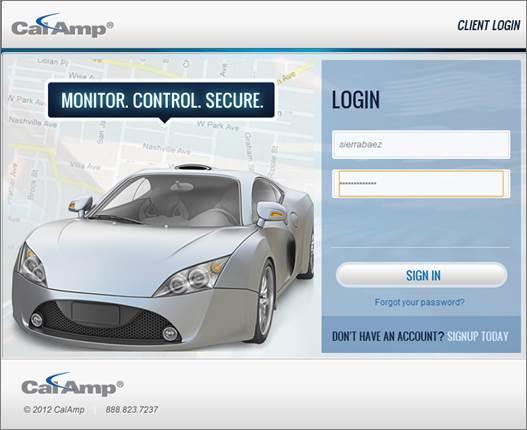 calamp dashboard login